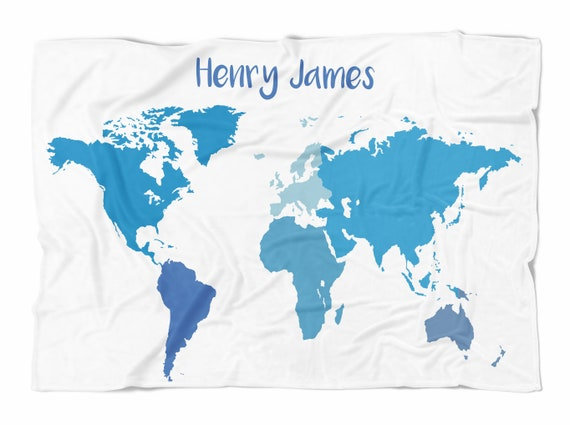 World map baby blanket oh the places you will go etsy image 0 gumiabroncs Images