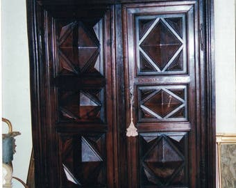 French Louis XIII Walnut Armoire