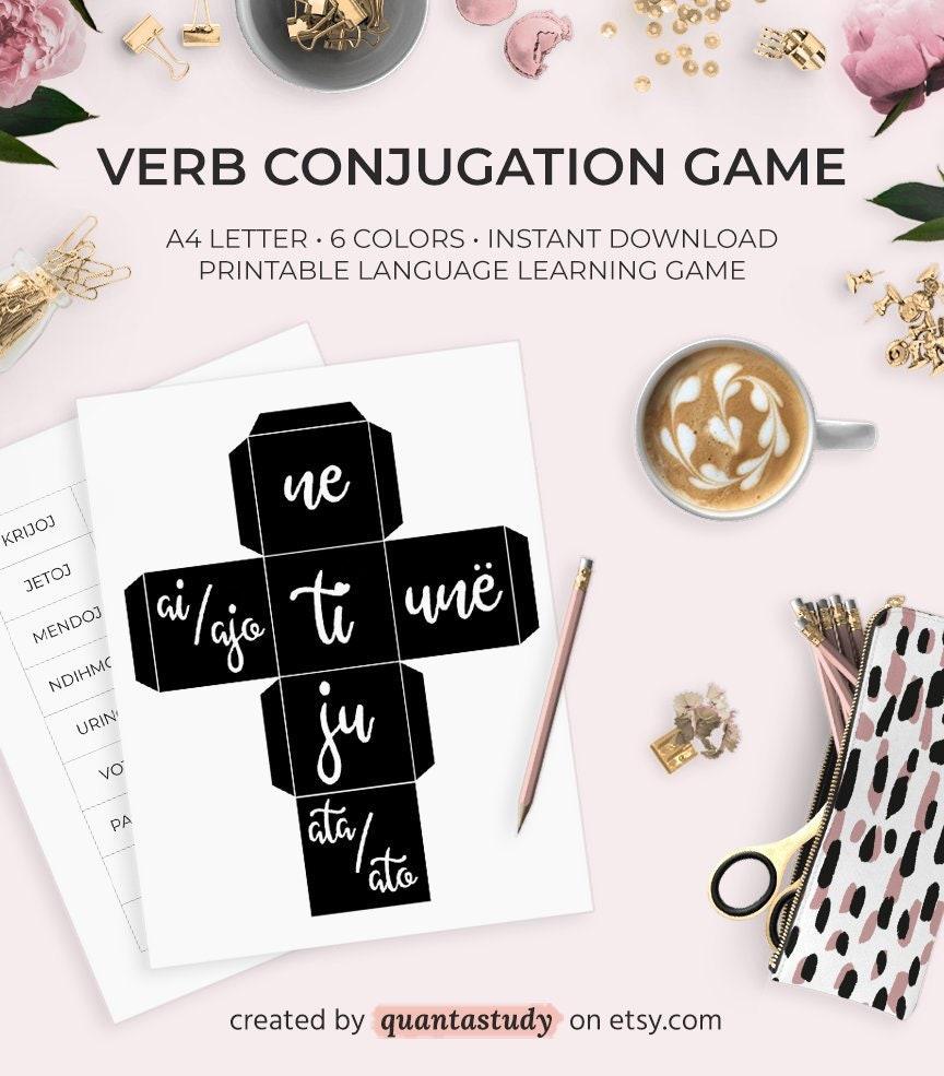 Language Learning Verb Conjugation Game Subject Pronoun Cube Etsy