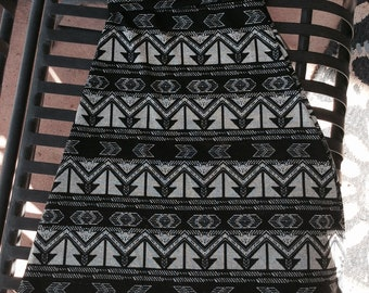 84bf94328 Girls and Toddlers Maxi Skirt - Black and Gray Arrow Maxi Skirt - Church  Skirt - School Skirt - Ankle Length Skirt