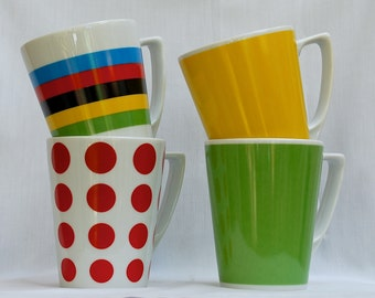 Set of 4 Latte-sized Cups - Jersey Set