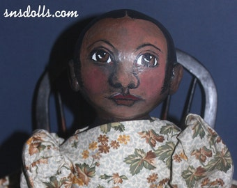 Daisy, an 18 inch original design folk art doll in the style of Izannah Walker
