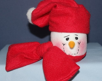 Set of four (4) Snowman Container decoration, money or jewelry gift wrap or packaging