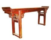 Antique Altar Table (3012), Korean Zelkova Wood, Circa 1800-1849 We Offer Layaway Plan