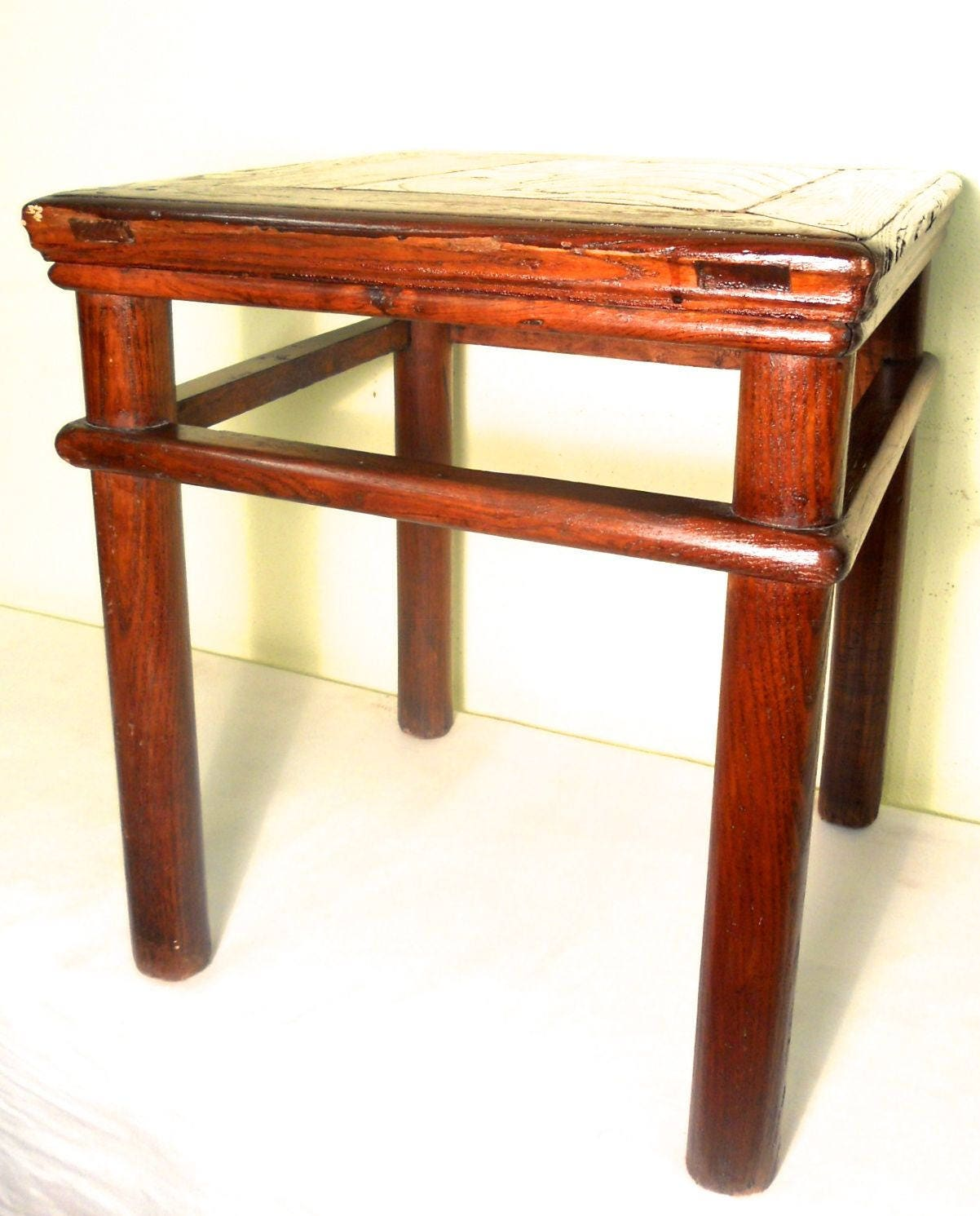 Antique Ming Meditation Bench 5764/End Table Circa