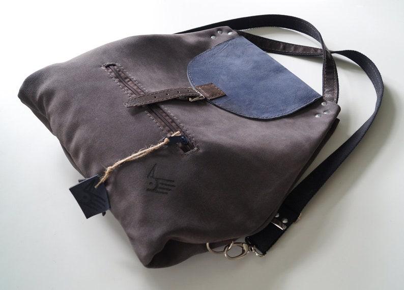 9e87fe9b1fd2f ROGATA MAŁGORZATA plecak/torba 2W1 szarość granat | Etsy