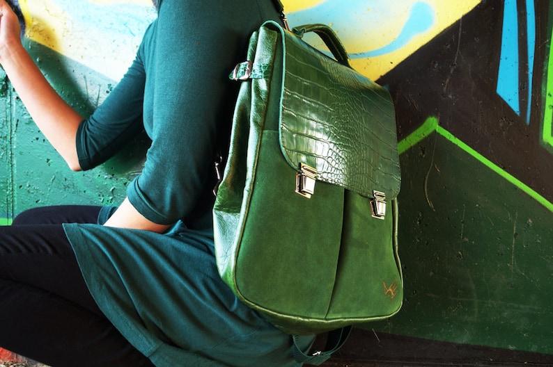 f24df8256c13d LILITH CHIMERA SMOCZA zielona skóra plecak torba