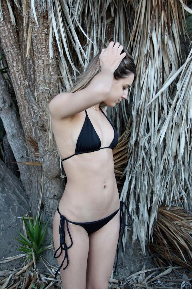 fc30429ff2692 Side Tie String Bikini Bottom Black
