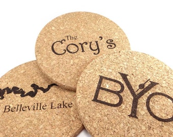 Personalized Cork, Hot Pad, Pot Holder, Trivet