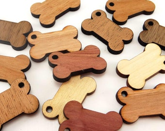 Wood dog bone tags, Wood blanks, Cutouts