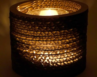 "Tea Light Cardboard Candle Holder 3"" tall"