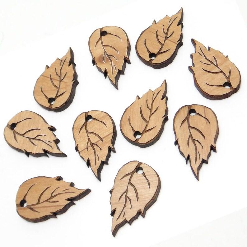 Fall Decor Wood Cutout Birch Leaves Charms Engraved Birch Leaf Wood Tags