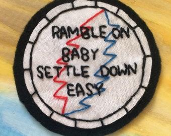 Embroidered Grateful Dead Patch Ramble On Rose Lyrics