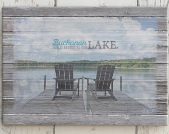 on sale custom lake home picture frame gift lake house etsy