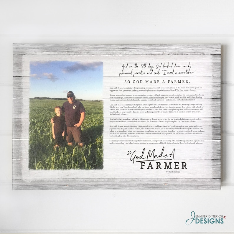 Gift for Farmer So God Made a Farmer Personalized Print