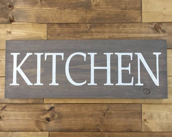 Kitchen Wood Sign | Kitchen Signs | Painted | Kitchen Decor | Farmhouse  Decor | Farmhouse Signs | Kitchen Wall Art | Large Kitchen Sign