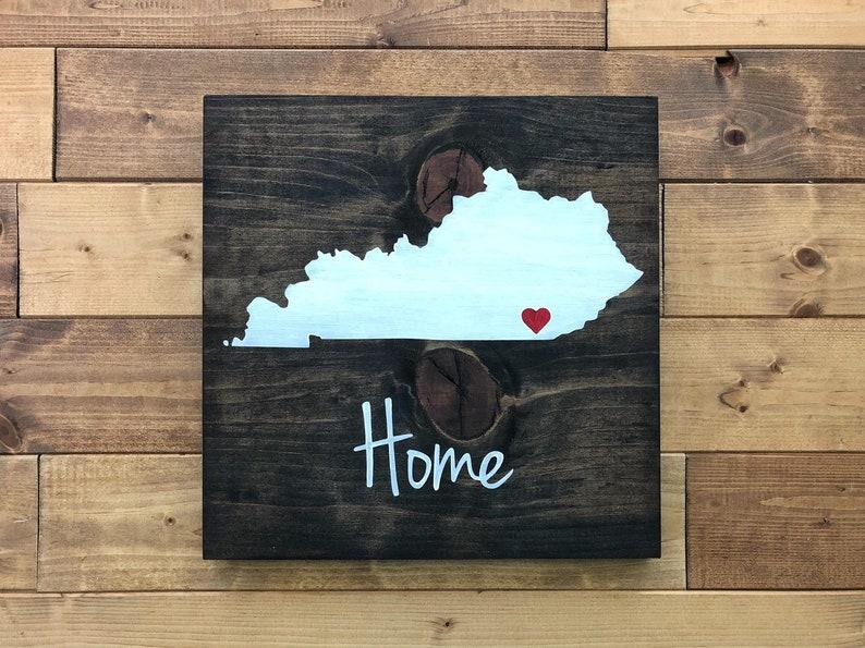 Kentucky Sign Kentucky Home Sign State Wall Art Kentucky Art Kentucky Wall Art Moving Gift Kentucky Gift Kentucky Decor