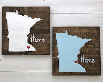 Minnesota Wood Sign | Minnesota wall art | Minnesota wall decor | Home state sign | Custom Sign | Minnesota gift