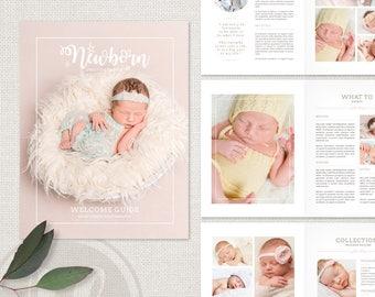 Newborn Photography Magazine Template Newborn Magazine   Etsy