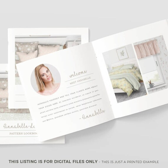 pattern design lookbook template interior design lookbook etsy