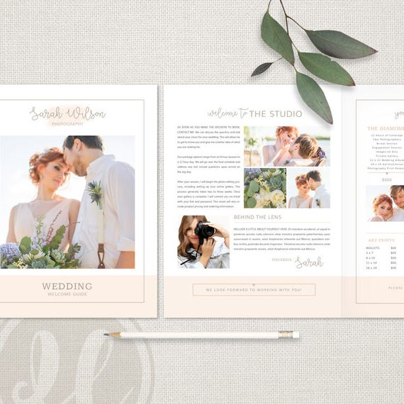 Hochzeit Fotografie Broschüre Client Welcome Guide   Etsy