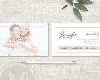 Photography Business Card - Photography Business Card Template, Instant Download, Photoshop Template for Photographers, Calling Card