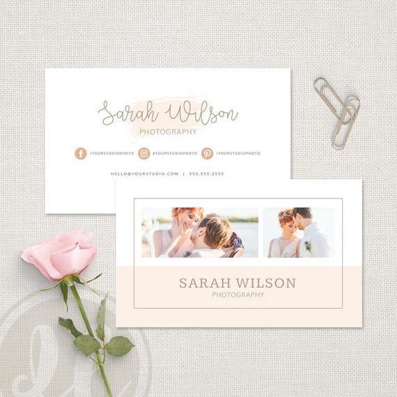 Hochzeit Fotografie Visitenkarte Rosa Aquarell Visitenkarte Vorlage Sofortiger Download Photoshop Vorlage Für Hochzeitsfotografen