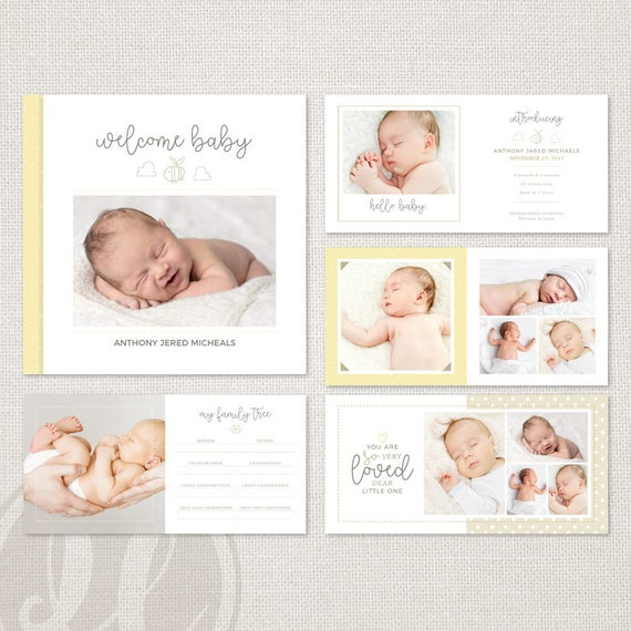 Baby Album Template For Photographers Baby Book Template Etsy