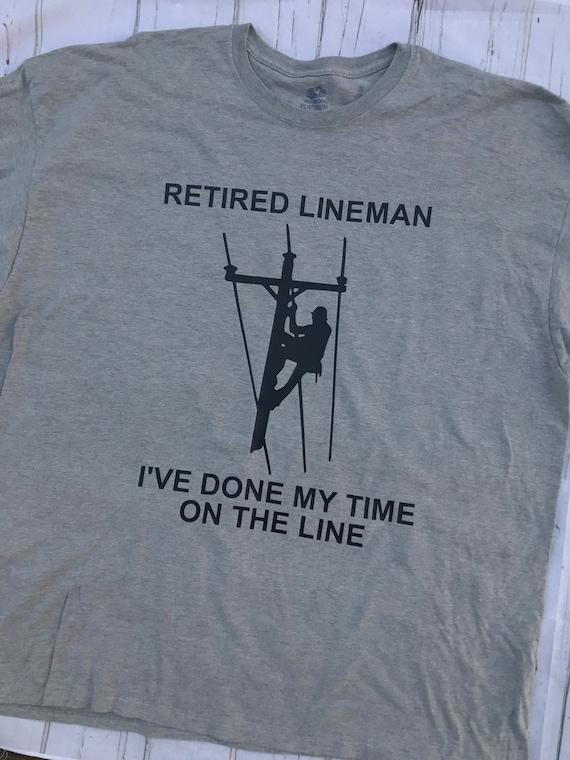 Retired Lineman Funny Electrical Retiree Unisex Sweatshirt