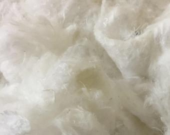 Wadding filling basic product pressed cellulose, textile fiber batting