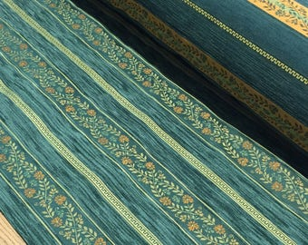 FABRIC upholstery Jacquard tone green striped upholstery weight 550 GR M2