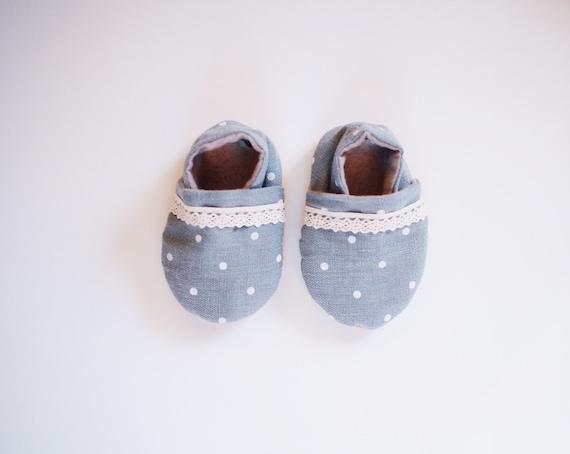 539cff98e80 Baby Booties Lucille Linen Bootie