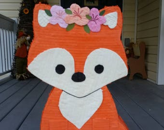 Woodland Birthday Party Fox Party Pinata Birthday Party