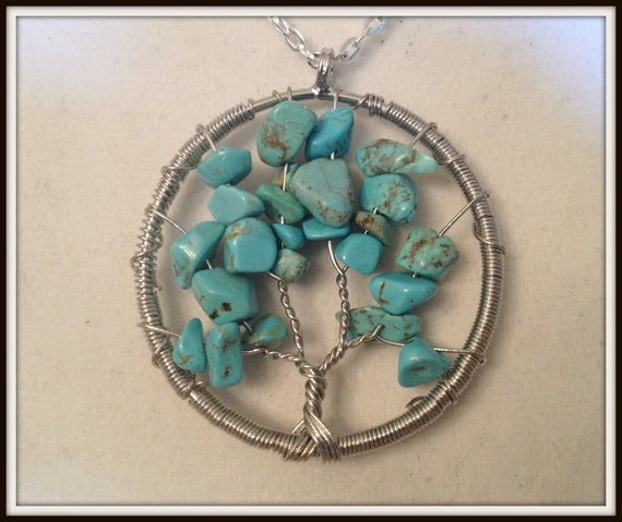 Tree of Life Necklace Family Tree Pagan Witchcraft.Gift Wrapped Wican