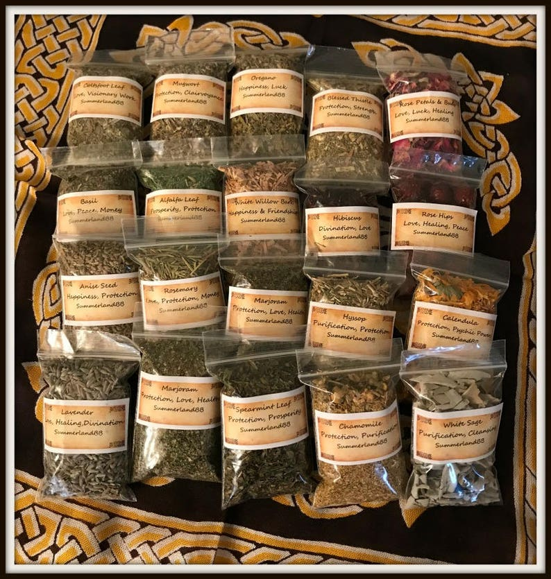 YOU Choose 15 bags of Magick Herbs ~ 2