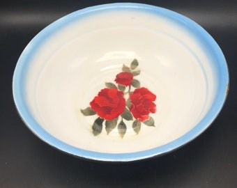 Diamond enamelware bowl