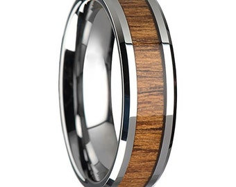 Custom Hawaiian Koa Wooden Ring   Men's Ring