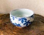 "Japanese Arita ""有田焼"" Porcelain ""西峰作, Seihou"", Grape drawing design, good for saucer, small to medium Kokedama"