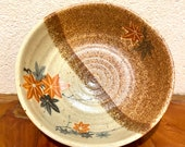 """Beautiful Japanese Porcelain with Japanese maple drawing, 5.5"""" diameter 1.95"""" height.   It is a good saucer for small to medium Kokedama."""
