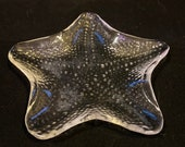 Star shape, clear glass s...