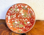 """Small Japanese flower mozart with wafu designed Saucer for small Kokedama Size 4.13"""" diameter x 0.6"""" height"""