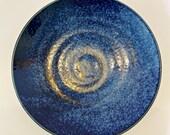 "Subtle indigo blue tone, design wafu saucer 6.25"" x 1"""