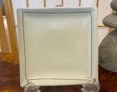 Square white matt white  saucer for Small to Medium Kokedama