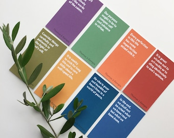 The Imitation of Christ - 50 Quote Cards | PDF printable Catholic Christian prayer cards, encouragement cards, fridge notes