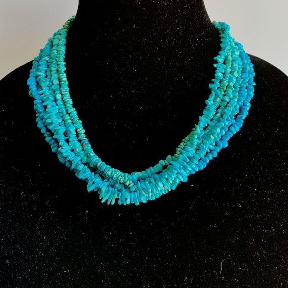 Mary Salazar Six Strand Turquoise Necklace