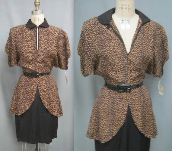 Vintage 80s Iconic NORMA KAMALI DEADSTOCK Leopard