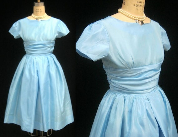 Vintage 50s Taffeta Party DRESS By PETITEEN Petite