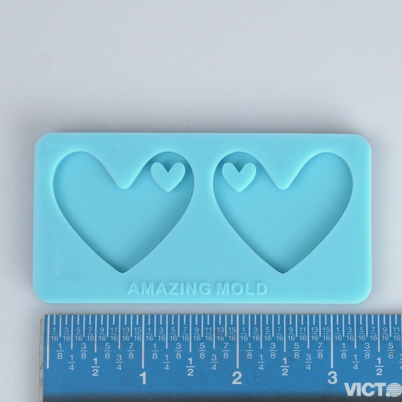Epoxy Mold Resin Mold 1 Piece Heart Silicone Earring Mold Silicone Mold 10340650