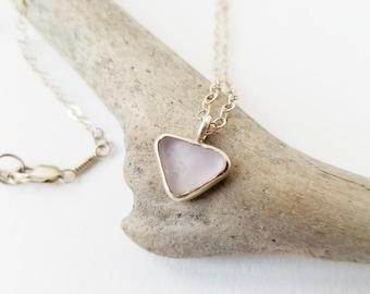 SALE - Lavender Sea Glass Sterling Necklace