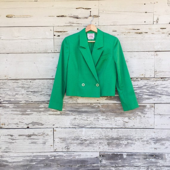 90's cropped double breasted blazer • XS / S • Cou
